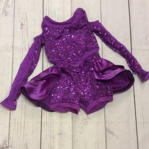 Weissman Little Girls Purple Dance Costume LC
